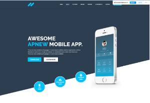 移动APP客户端下载促销页面HTML源码模板下载