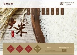 织梦最新开发谷类大米农作物农业网站模板(带手机端)+PC+移动端+利于SEO优化