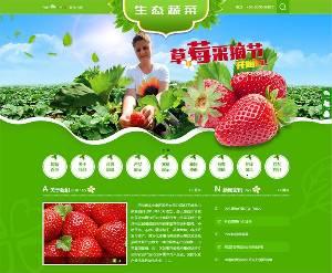 织梦最新开发绿色水果蔬菜类模板(带手机端)+PC+移动端+利于SEO优化