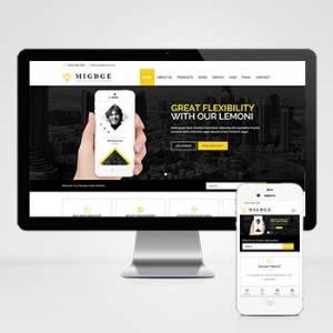 响应式五金电器出口英文外贸类网站织梦模板 HTML5五金电子产品外贸+自适应手机版