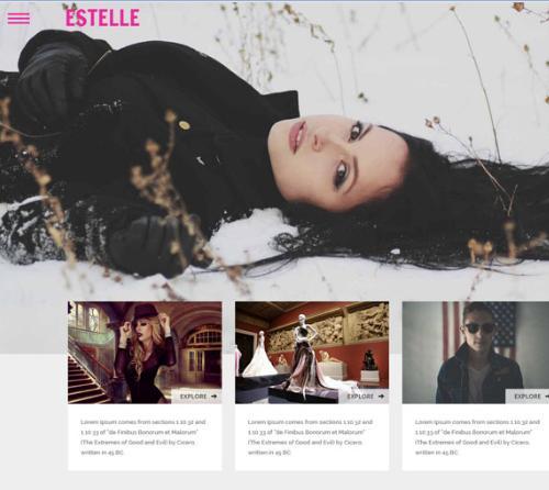 时尚平面模特展示网站模板