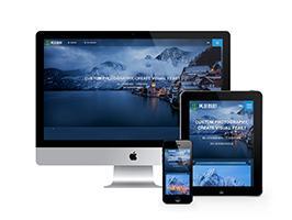 响应式户外风景摄影设计公司网站织梦模板