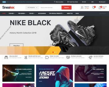 Opencart主题模板响应式 Sneaker v3.0.x