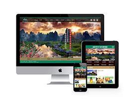 景区旅游景点官方网站类织梦模板(带手机端同步数据)