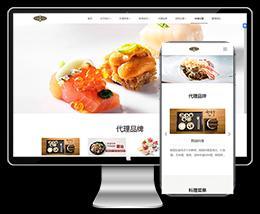 HTML5响应式餐饮管理餐饮加盟等企业公司网站织梦dede模板下载(自适应手机)