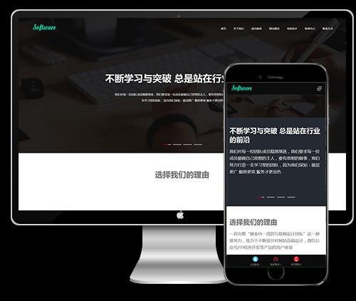 响应式高端网站建设互联网营销设计dede模板下载(自适应手机)