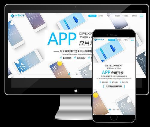 响应式互联网技术APP应用开发类织梦模板下载(自适应手机端)