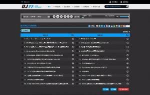 程CMS4.0 DJ77舞曲音乐网站模板源代码,CSCMS仿DJ77模板适用于纯舞蹈网站模板