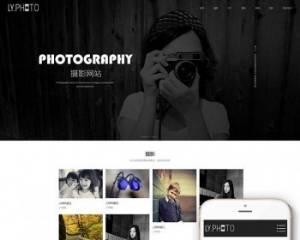 (自适应手机版)响应式风景摄影类网站源码 HTML5个人写真摄影工作室网站织梦模板