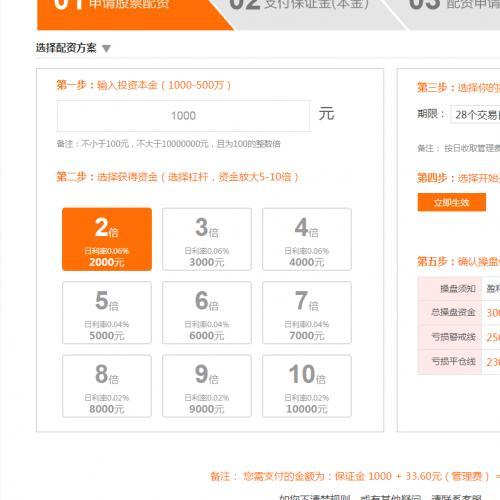 北京线上股票配资软件搭建-股票配资系统源码开发定制